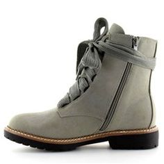 Botki sznurowane szare 8308 Grey 5 Lace Up Heels, Suede Heels, Low Heels, Sneaker Boots, Short Boots, Chunky Heels, Combat Boots, High Top Sneakers, Fashion Shoes
