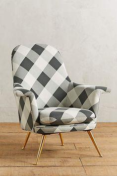 Buffalo Check Kimball Chair - anthropologie.com