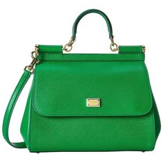 Add a bold pop of color to your ensemble with the Dolce & Gabbana® Miss Sicily. Saffiano leather handbag with tonal stitching. Leather top carry handle. Remova…
