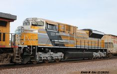 Caterpillar painted SD70ACe locomotive #1201 by ~EternalFlame1891 on deviantART