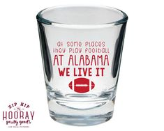 Tailgate Shot Glasses Shot Glasses Football Party Shot Glasses Shot Glasses Custom Shot Glasses Party Favors Shot Glasses 1521 by SipHipHooray