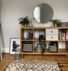 KALLAX oak effect, Shelving unit, cm. You can use the furniture as a room divider because it looks good from every angle. Boho Living Room, Home And Living, Living Room Decor, Room Ideas Bedroom, Bedroom Decor, Muebles Living, Interior Decorating, Interior Design, Ikea Hack