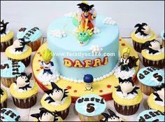 Dragon Ball Z cake and cupcakes