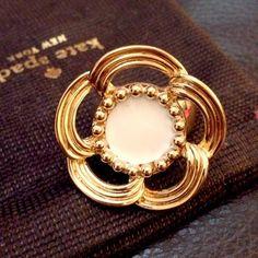 "Girly Girl Host Pick by hilarysmom! Spotted while shopping on Poshmark: ""HOST PICK! KS cocktail ring with cream enamel""! #poshmark #fashion #shopping #style #kate spade #Jewelry"