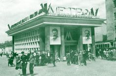 Smolenskaya was one of the first station to be opened on May 15, 1935. It was the terminal station of the first stage. Two years later the land pavilion was demolited in the framework of the expansion of Garden Ring. [Moscow Metro]