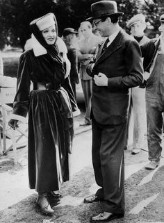 Marlene Dietrich and Alexander Korda. 1936