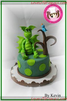 МК детский торт с динозавром-Dinosaur Cake Topper tutorial - Мастер-классы по украшению тортов Cake Decorating Tutorials (How To's) Tortas Paso a Paso
