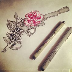 """Pistol Tattoo Design  """"show him what little girls are made of, gun powder and lead"""" obsessed♥"""