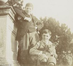 Young Winston Churchill and his brother, Jack