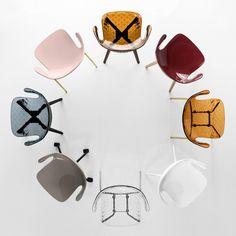 Des chaises design transparentes et colorées, Calligaris