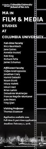 Columbia, NY - MA, Film Studies