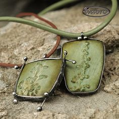 inspired by nature | by iva bro - polymer clay and tin.