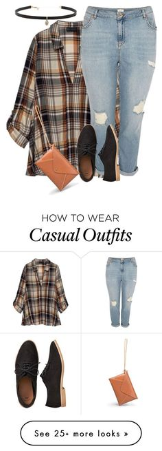 """""""Plus size plaid chic 1/ casual"""" by xtrak on Polyvore featuring Bobeau, River Island, Gap and Carbon & Hyde"""