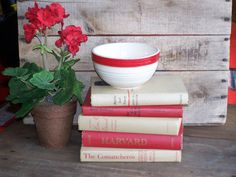 vintage red book collection bundle display for by southerndaisies, $16.95