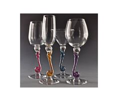 Lisa Maries In White Wine, Flute, Martini & Red Wine by Romeo Glass. American Made. See the designer's work at the 2015 American Made Show, Washington DC. January 16-19, 2015. americanmadeshow.com #stemware, #glass, #americanmade