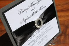 Elegant Wedding Invitation  Luxurious Glamorous by decadentdesigns, $6.25  Similar to the original invite I wanted.  I KNOW this could be done!