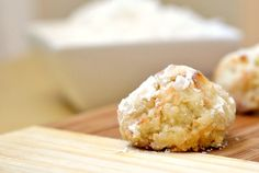 Coconut rum balls. A bite-sized tropical getaway.