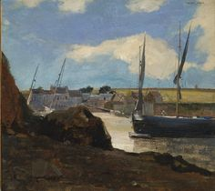 "thunderstruck9: ""Odilon Redon (French, 1840-1916), The Port of Morgat, 1882. Oil on canvas. """