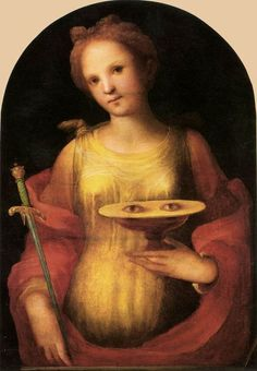 Antique Painting - St. Lucy