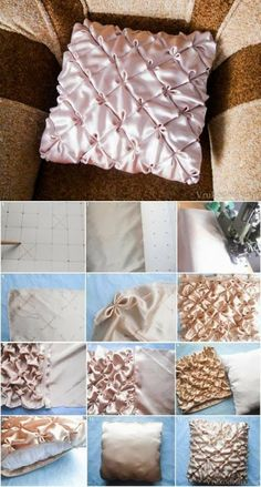 DIY : Pillow with Flower Patterns
