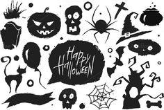 Halloween icons by vectorprro on Creative Market