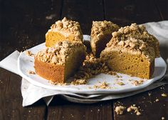 This single layer cake is the essence of fall. The brown butter gives it a subtle caramel depth, while the pepita-laden streusel adds salty balance.