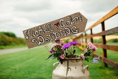 A wonderful wedding at home story proving that sometimes holiday romances do last. Tipi Wedding, Marquee Wedding, Home Wedding, Wedding Signs, Milk Churn, Sons, Decorations, Flowers, Photography