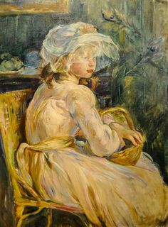 Berthe Morisot - Young Girl with Basket, 1892 at the Museum of Art Philadelphia PA | Flickr - Photo Sharing!