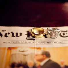 ring photo with the newspaper. Super cute. I have to remember this!!