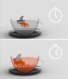 """drink not shark fin soup, opt for the better choice...""""shark fin tea"""" -*Sharks fins not part of it at all :)"""