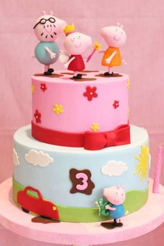 Don't miss this adorable Peppa Pig birthday party! The birthday cake is so impressive! Girls Birthday Party Themes, 16th Birthday Gifts, Birthday Gifts For Best Friend, Adult Birthday Party, Birthday Gifts For Kids, Sweet 16 Birthday, Girl Birthday, Peppa Pig Birthday Cake, Sweet 16 Gifts