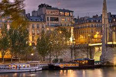 Taken from across the Seine, this is a photo of the famous restaurant, La Tour d'Argent in Paris. The view is superb, the specialty is duck, the wine list is extensive and it's history dates back to 1582.