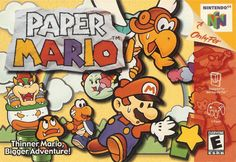 Paper Mario foi o jogo do encanador bigodudo que eu mais gostei, tanto esse quando os outros de outras plataformas. O que me chamou a atenção foi por ele ser um RPG (nao foi o primeiro rpg de Mario, mas foi o primeiro que joguei), e por tudo ser feito em... papel. Não fechei 100% desse jogo ainda, mas mesmo assim é um jogo que pode passar quantos anos for, eu não enjoarei.