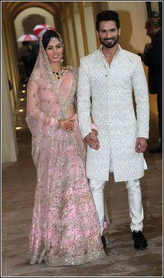 #ShahidKiShaadi Mira Rajput In #AnamikaKhanna & @ShahidKapoor In @KunalRawalvibe. Congratulations to the newly weds!