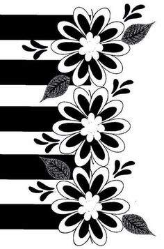 57 Trendy Ideas For Mandala Wallpaper Preto E Branco Stencils, Boarder Designs, Black And White Background, Polka Dot Background, 3d Quilling, Stencil Patterns, Floral Border, Silhouette Design, Flower Art