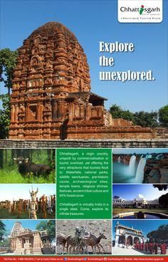 Chhattisgarh is virtually India in a single state. Come, explore its infinite treasures.  #ExploreChhattisgarh