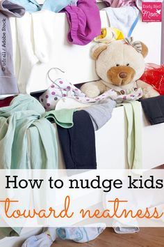 Do you have a child who doesn't believe in putting things away? Most kids aren't born tidy but you can absolutely teach them how to clean up. Kids can pick up toys, clothes, and help in the kitchen. This post shows you how.