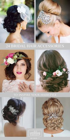 24 Bridal Hair Accessories To Inspire Your Hairstyle ❤ BridalHair accessories let you look chic from head to toe in an instant. See more: http://www.weddingforward.com/bridal-hair-accessories-to-inspire-hairstyle/ #weddings #hairstyles #accessories