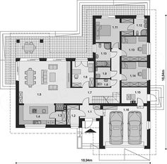 Projekt domu Padme 2 165,47 m2 - koszt budowy - EXTRADOM