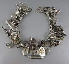 Charm Bracelets . . . the way forward, securely investing our finances in fine silver jewellery.