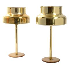 Table Lamps, Brass and Leather, Ateljé Lyktan, Sweden, 1960s | From a unique collection of antique and modern table lamps at https://www.1stdibs.com/furniture/lighting/table-lamps/