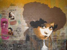 Street art, BTOY (Andrea Michaelsson), Cans Festival 2008, Leake Street, London