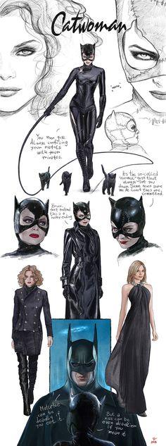 Batman Returns-Catwoman-concept art-FanArt by VladislavPANtic on DeviantArt Catwoman Cosplay, Catwoman Makeup, Catwoman Comic, Batman And Catwoman, Batman Art, Batman Concept Art, Gotham Batman, Batman Robin, Catwoman Halle Berry