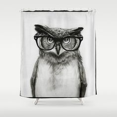 Mr.+Owl+Shower+Curtain+by+Isaiah+K.+Stephens+-+$68.00