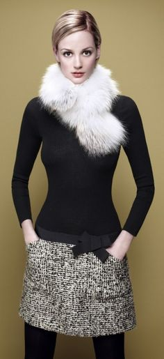 I don't like to wear real fur... but overall this look is cute!!