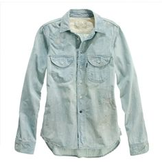 Madewell MADEWELL Chimala® Chambray Shirt ($386) ❤ liked on Polyvore