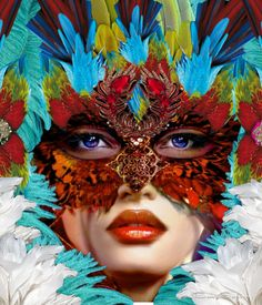 Venetian Mask ❤ - made by BabySavira Mababe with Bazaart #collage