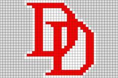 Daredevil Logo Pixel Art from BrikBook.com #Daredevil #Logo #superhero #Marvel #superhero #pixel #pixelart #8bit Shop more designs at http://www.brikbook.com