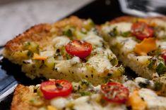 Receita de massa de couve-flor para pizza.