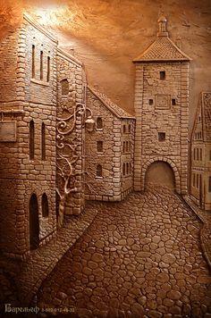 Clay Wall Art, Mural Wall Art, Clay Art, Wood Carving Patterns, Wood Carving Art, Sculpture Clay, Sculptures, Plaster Art, Metal Engraving